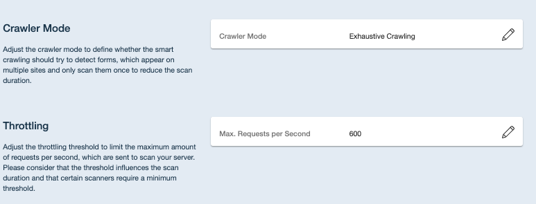 Crashtest Security Suite Crawler Mode Throttling