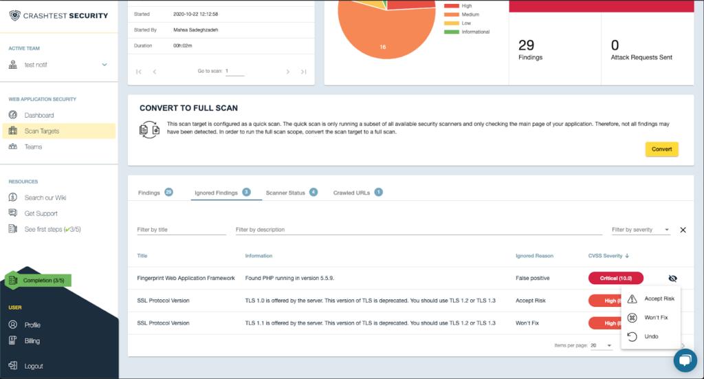 Crashtest Security Suite Markings Operation