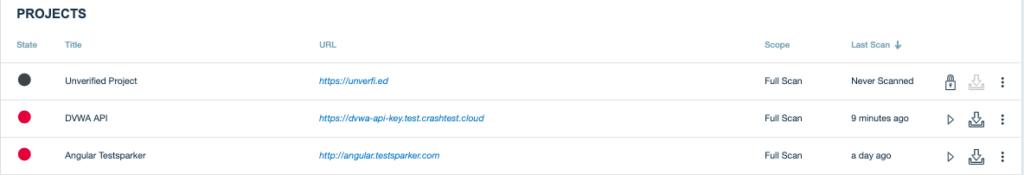Crashtest Security Suite Projects