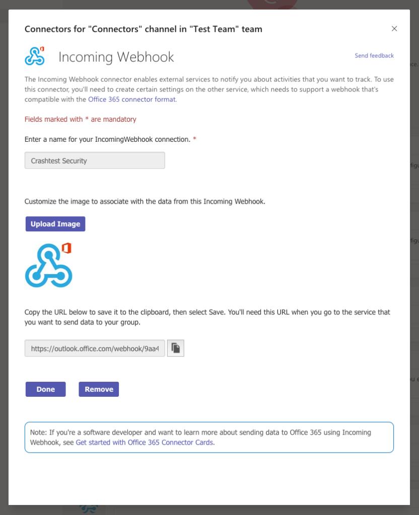 Microsoft Teams Incoming Webhook